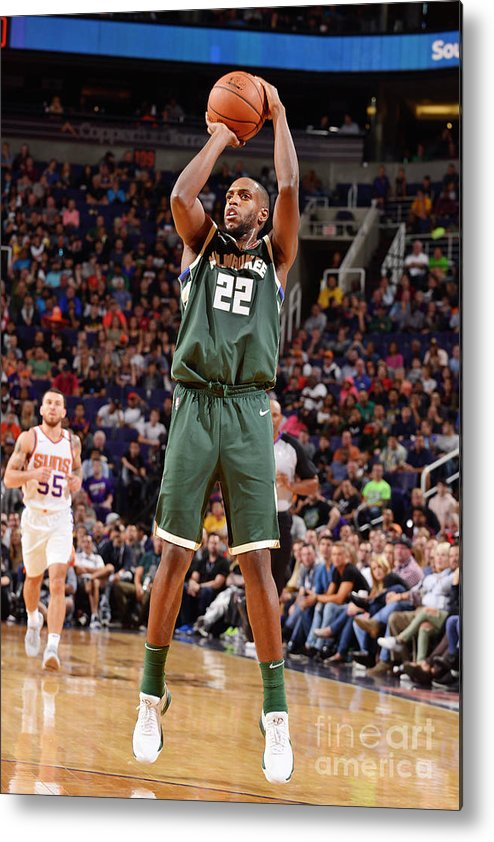 Nba Pro Basketball Metal Print featuring the photograph Khris Middleton by Barry Gossage