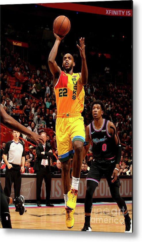Nba Pro Basketball Metal Print featuring the photograph Khris Middleton by Oscar Baldizon