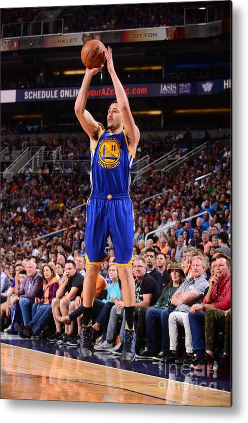 Nba Pro Basketball Metal Print featuring the photograph Klay Thompson by Barry Gossage