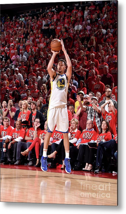 Playoffs Metal Print featuring the photograph Klay Thompson by Bill Baptist