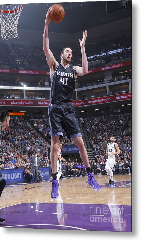 Nba Pro Basketball Metal Print featuring the photograph Kosta Koufos by Rocky Widner