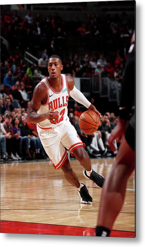 Chicago Bulls Metal Print featuring the photograph Kris Dunn by Jeff Haynes