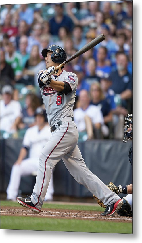 American League Baseball Metal Print featuring the photograph Kurt Suzuki by Mike Mcginnis