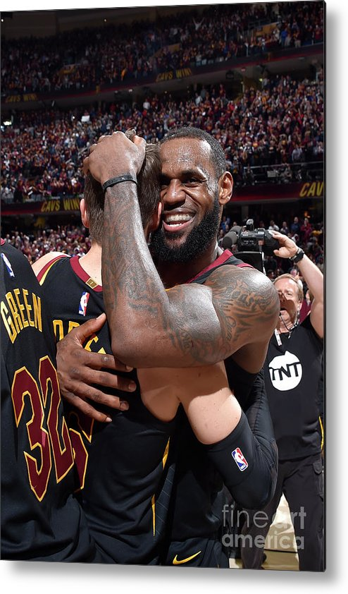 Playoffs Metal Print featuring the photograph Kyle Korver and Lebron James by David Liam Kyle