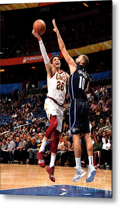 Nba Pro Basketball Metal Print featuring the photograph Kyle Korver by Gary Bassing