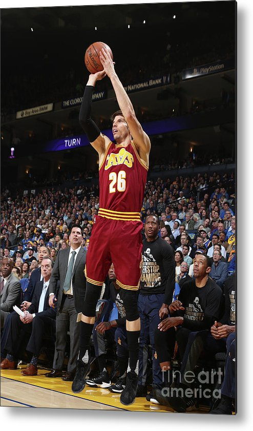 Nba Pro Basketball Metal Print featuring the photograph Kyle Korver by Nathaniel S. Butler