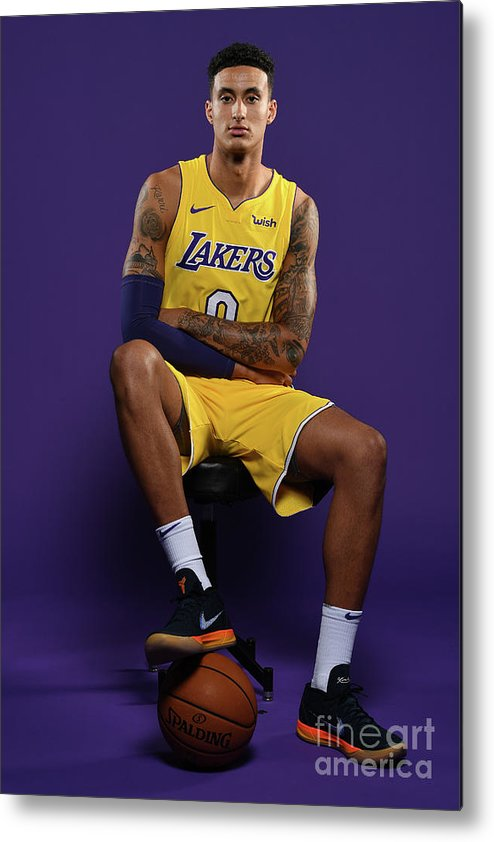 Media Day Metal Print featuring the photograph Kyle Kuzma by Aaron Poole