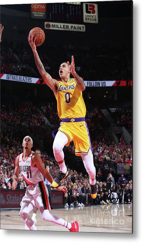 Nba Pro Basketball Metal Print featuring the photograph Kyle Kuzma by Sam Forencich