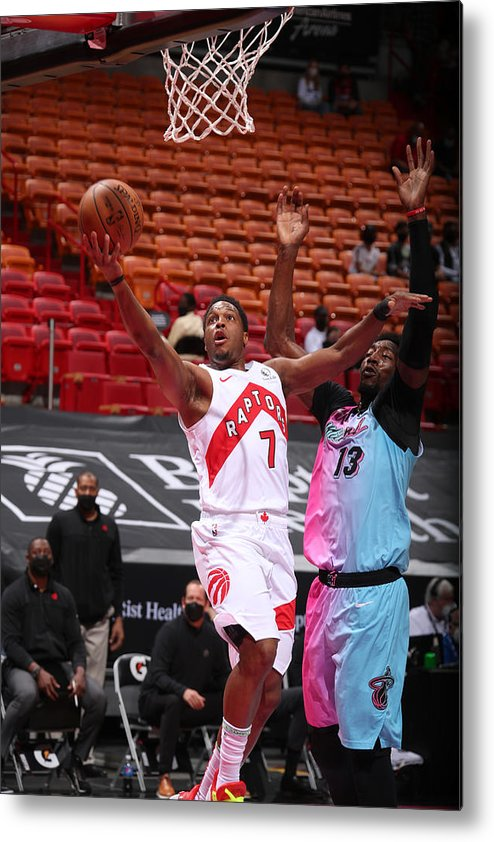 Nba Pro Basketball Metal Print featuring the photograph Kyle Lowry by Issac Baldizon