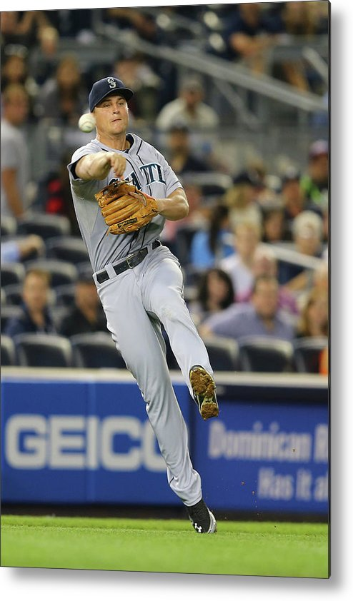 American League Baseball Metal Print featuring the photograph Kyle Seager by Al Bello