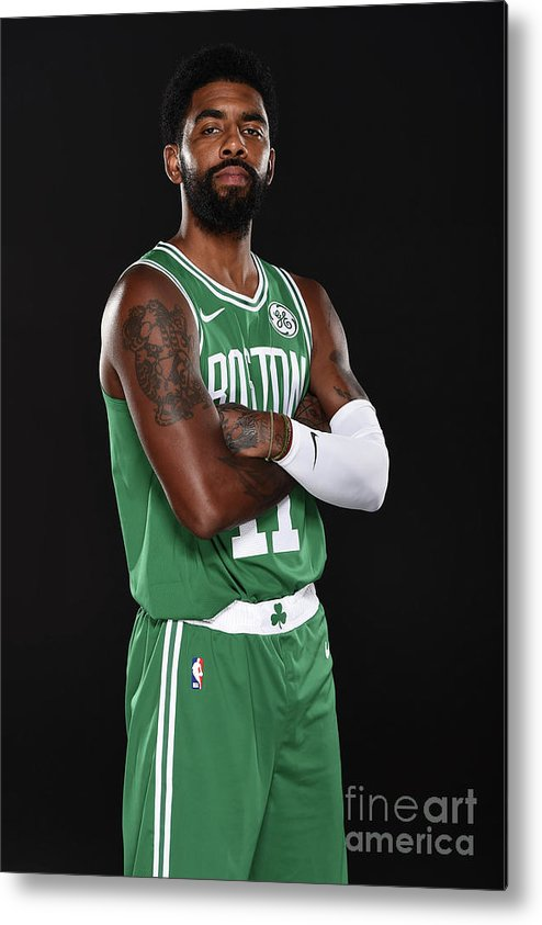 Media Day Metal Print featuring the photograph Kyrie Irving by Brian Babineau