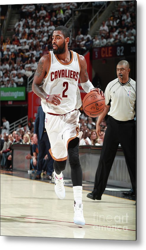 Playoffs Metal Print featuring the photograph Kyrie Irving by Jeff Haynes