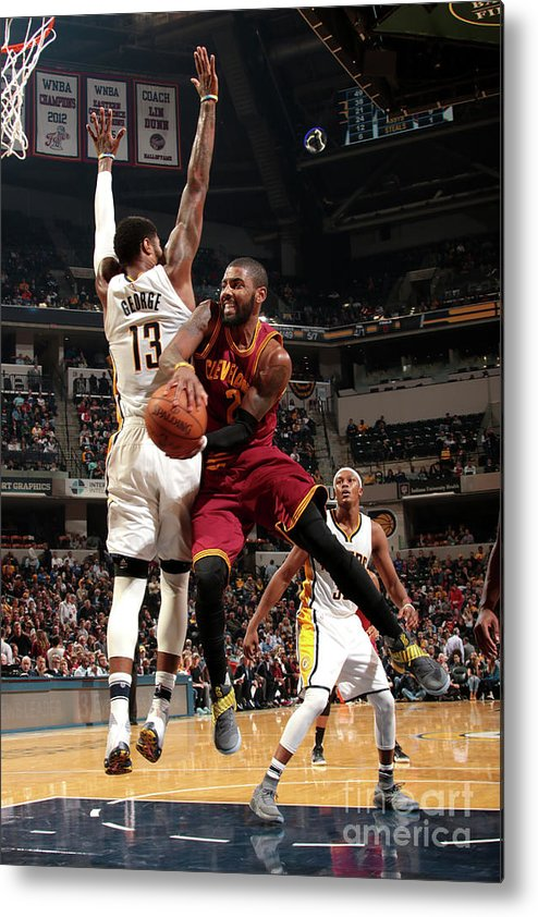 Nba Pro Basketball Metal Print featuring the photograph Kyrie Irving by Ron Hoskins