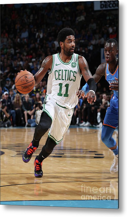 Nba Pro Basketball Metal Print featuring the photograph Kyrie Irving by Zach Beeker