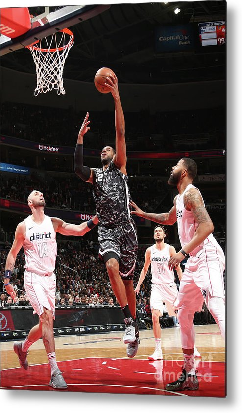 Nba Pro Basketball Metal Print featuring the photograph Lamarcus Aldridge by Ned Dishman