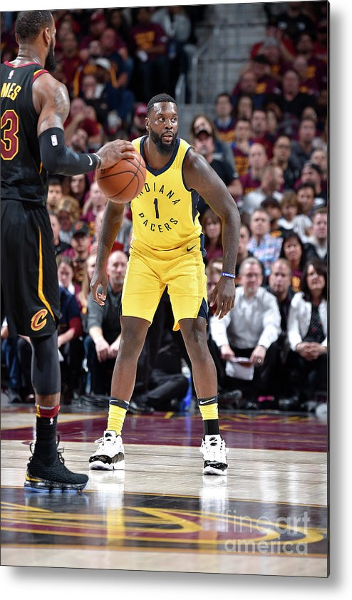 Playoffs Metal Print featuring the photograph Lance Stephenson and Lebron James by David Liam Kyle