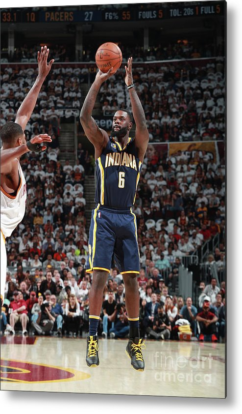 Playoffs Metal Print featuring the photograph Lance Stephenson by Jeff Haynes