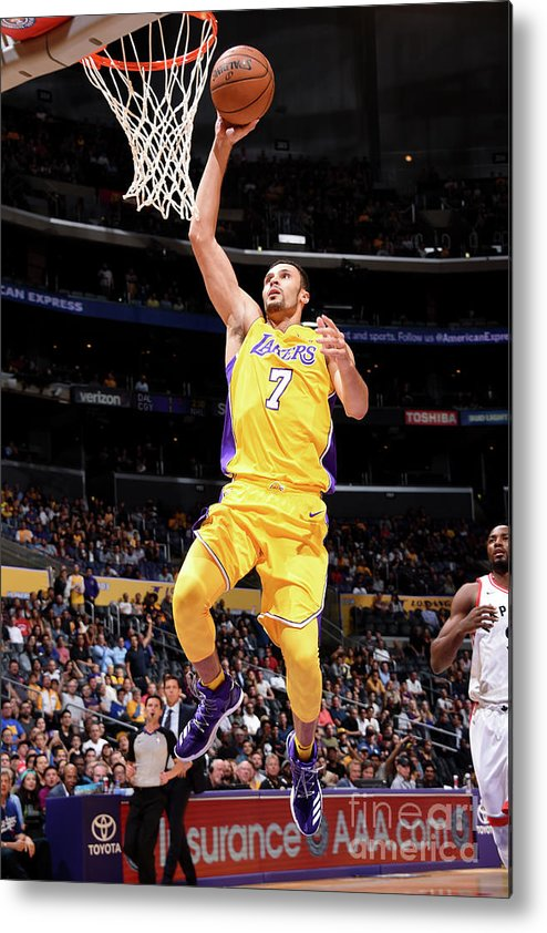 Nba Pro Basketball Metal Print featuring the photograph Larry Nance by Andrew D. Bernstein