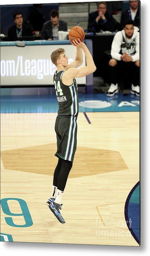 Nba Pro Basketball Metal Print featuring the photograph Lauri Markkanen by Kent Smith