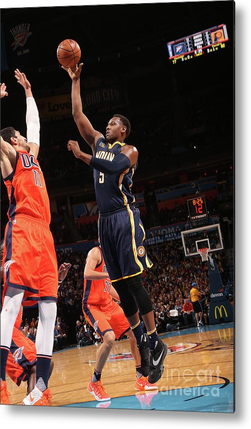 Nba Pro Basketball Metal Print featuring the photograph Lavoy Allen by Layne Murdoch