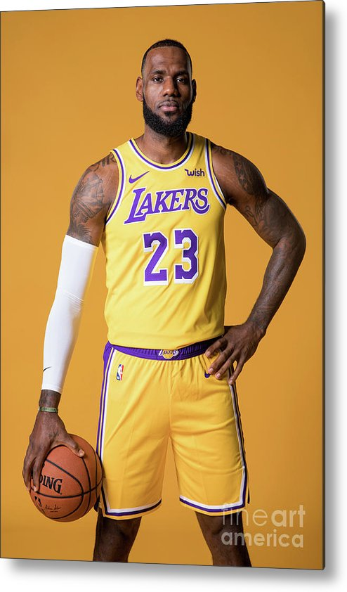 Media Day Metal Print featuring the photograph Lebron James by Atiba Jefferson