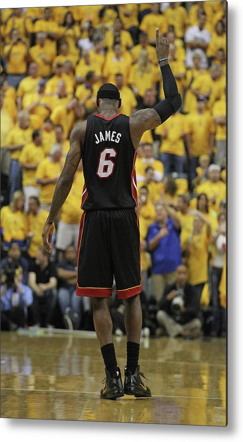 Playoffs Metal Print featuring the photograph Lebron James by Jonathan Daniel