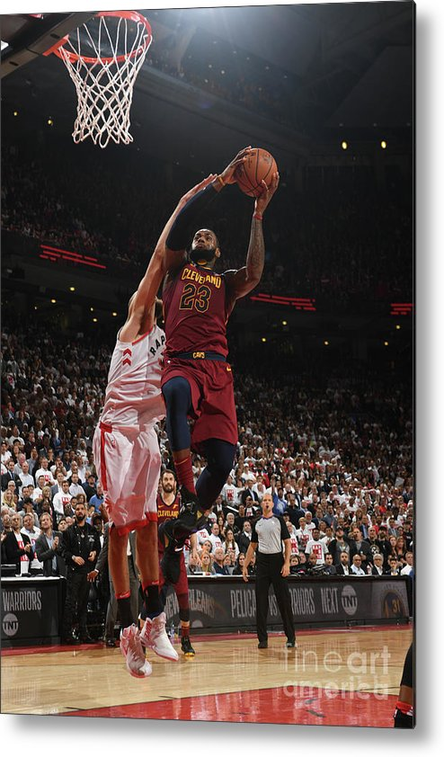 Playoffs Metal Print featuring the photograph Lebron James by Ron Turenne
