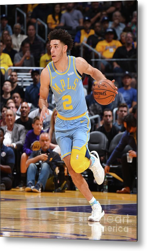 Nba Pro Basketball Metal Print featuring the photograph Lonzo Ball by Andrew D. Bernstein