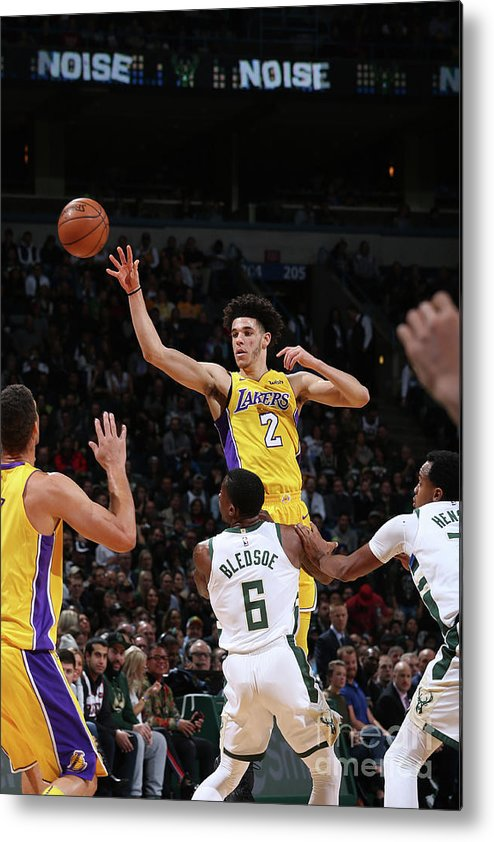 Nba Pro Basketball Metal Print featuring the photograph Lonzo Ball by Gary Dineen