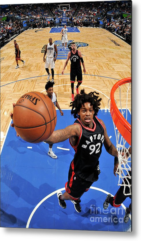Nba Pro Basketball Metal Print featuring the photograph Lucas Nogueira by Fernando Medina