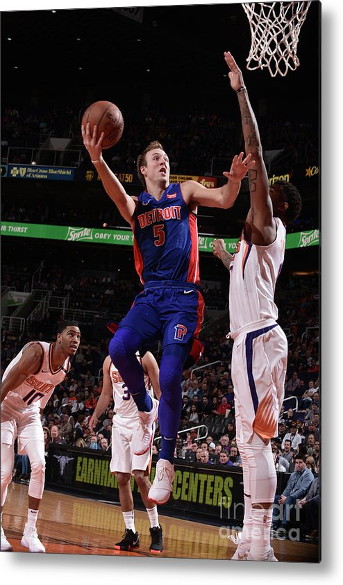 Nba Pro Basketball Metal Print featuring the photograph Luke Kennard by Michael Gonzales