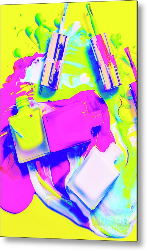 Retro Metal Print featuring the photograph Manic Cured by Jorgo Photography - Wall Art Gallery