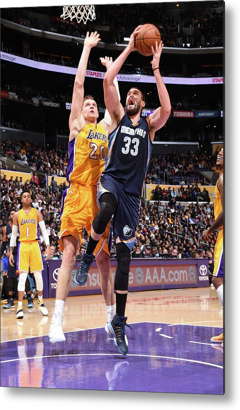 Nba Pro Basketball Metal Print featuring the photograph Marc Gasol by Andrew D. Bernstein
