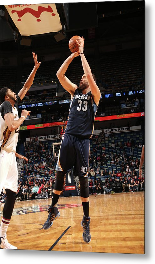 Smoothie King Center Metal Print featuring the photograph Marc Gasol by Layne Murdoch