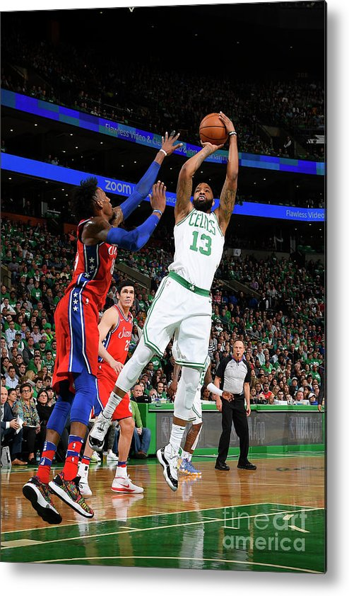 Playoffs Metal Print featuring the photograph Marcus Morris by Brian Babineau