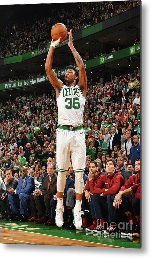 Playoffs Metal Print featuring the photograph Marcus Smart by Jesse D. Garrabrant