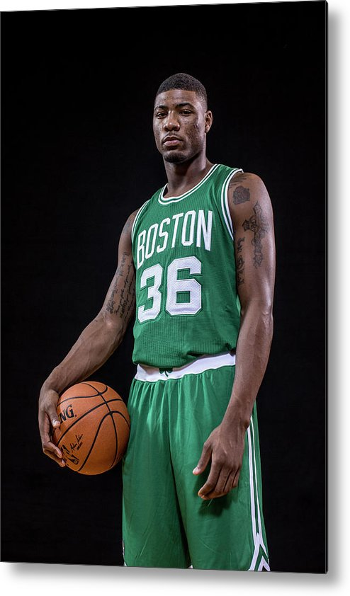 Nba Pro Basketball Metal Print featuring the photograph Marcus Smart by Nick Laham