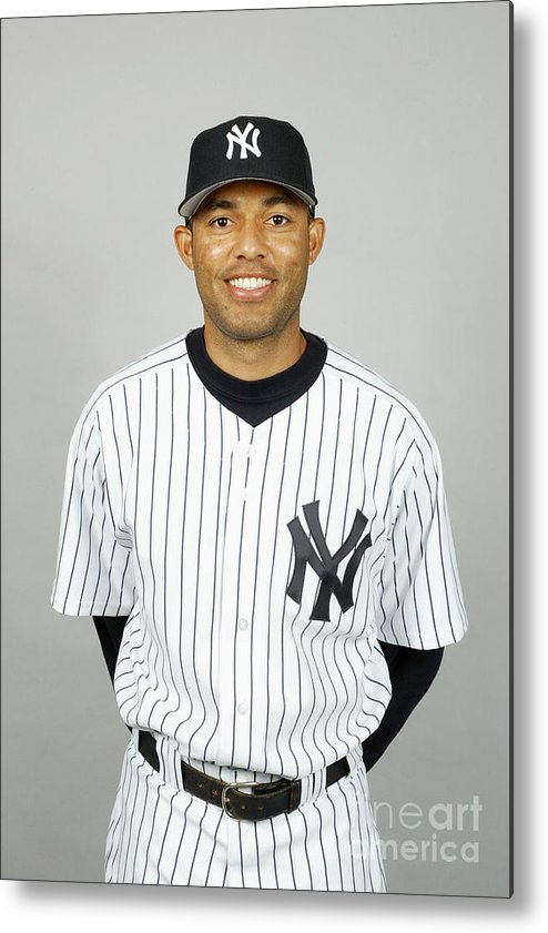 Media Day Metal Print featuring the photograph Mariano Rivera by Mlb Photos