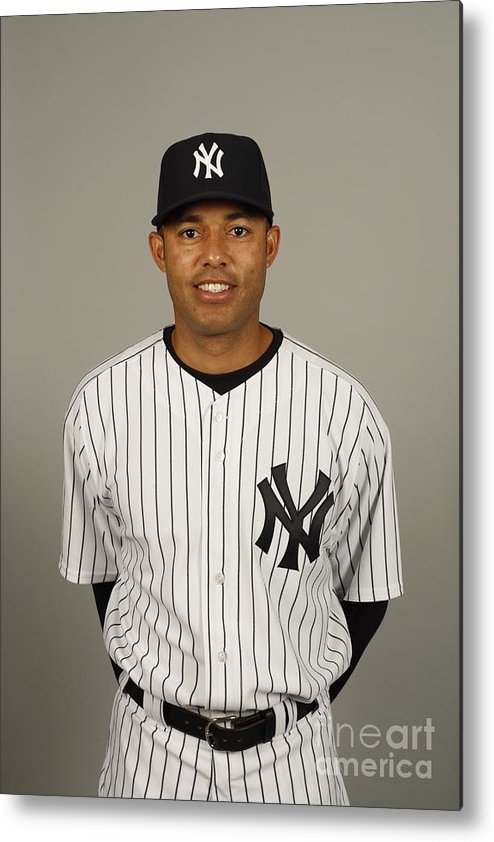 Media Day Metal Print featuring the photograph Mariano Rivera by Robert Rogers