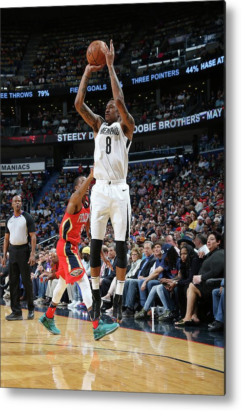 Smoothie King Center Metal Print featuring the photograph Marshon Brooks by Layne Murdoch Jr.