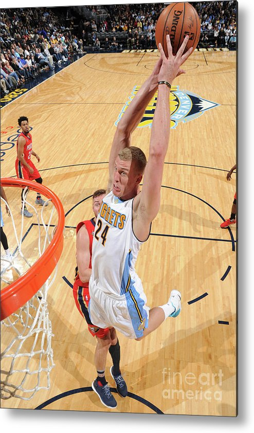 Nba Pro Basketball Metal Print featuring the photograph Mason Plumlee by Garrett Ellwood