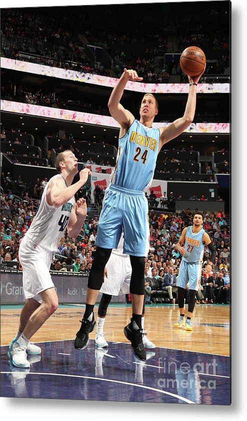 Nba Pro Basketball Metal Print featuring the photograph Mason Plumlee by Kent Smith