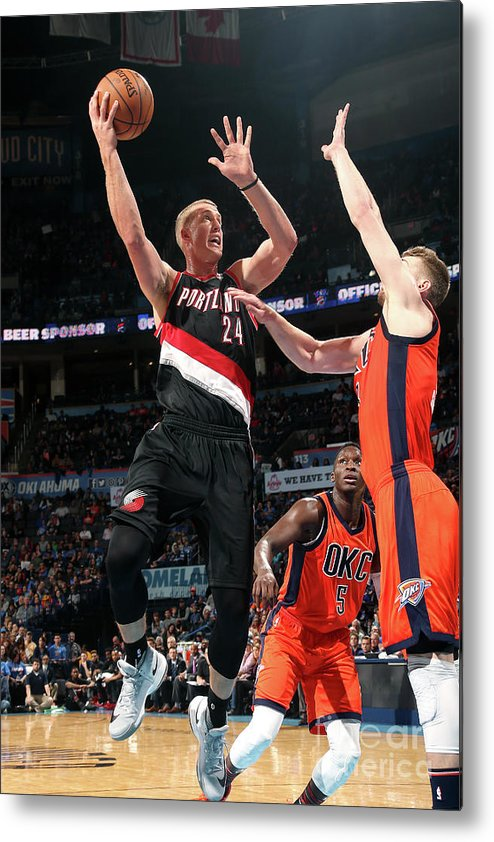 Nba Pro Basketball Metal Print featuring the photograph Mason Plumlee by Layne Murdoch