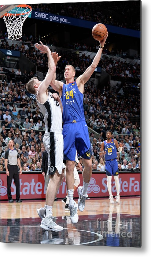 Playoffs Metal Print featuring the photograph Mason Plumlee by Mark Sobhani