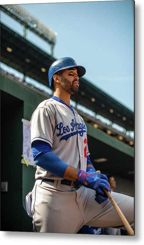 American League Baseball Metal Print featuring the photograph Matt Kemp by Rob Tringali