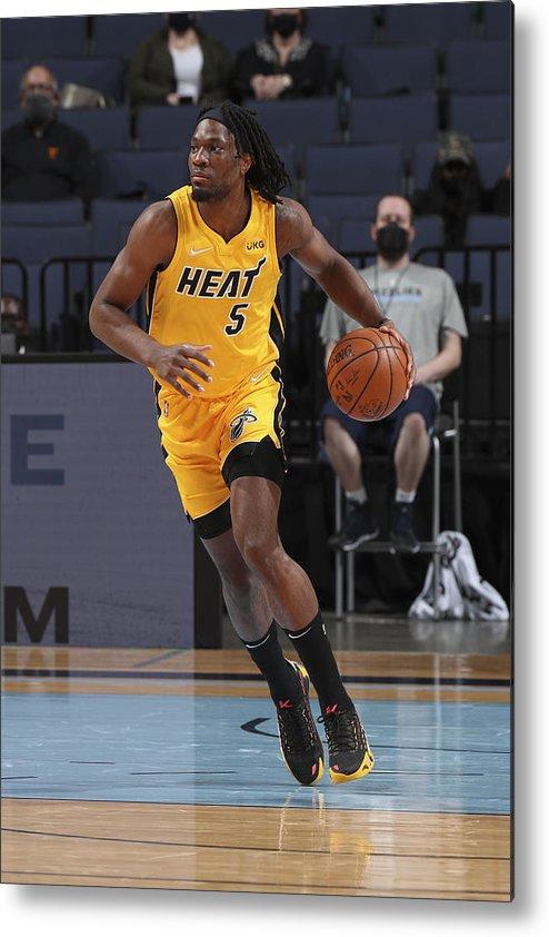 Nba Pro Basketball Metal Print featuring the photograph Miami Heat v Memphis Grizzlies by Joe Murphy