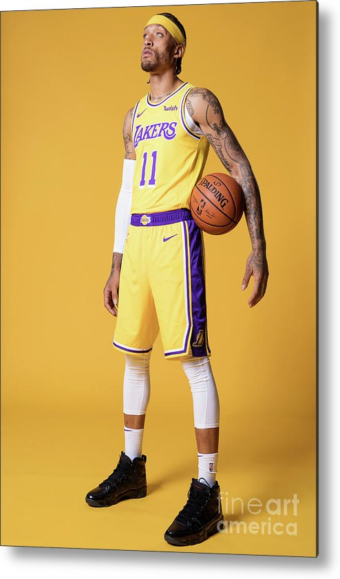 Media Day Metal Print featuring the photograph Michael Beasley by Atiba Jefferson