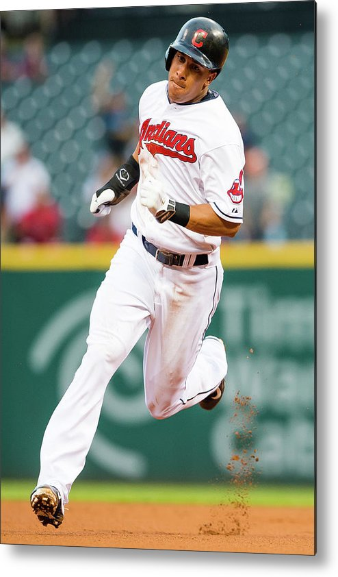 People Metal Print featuring the photograph Michael Brantley and David Murphy by Jason Miller