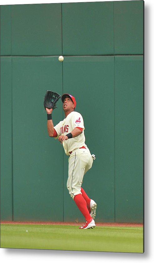 People Metal Print featuring the photograph Michael Brantley and Skip Schumaker by Jamie Sabau