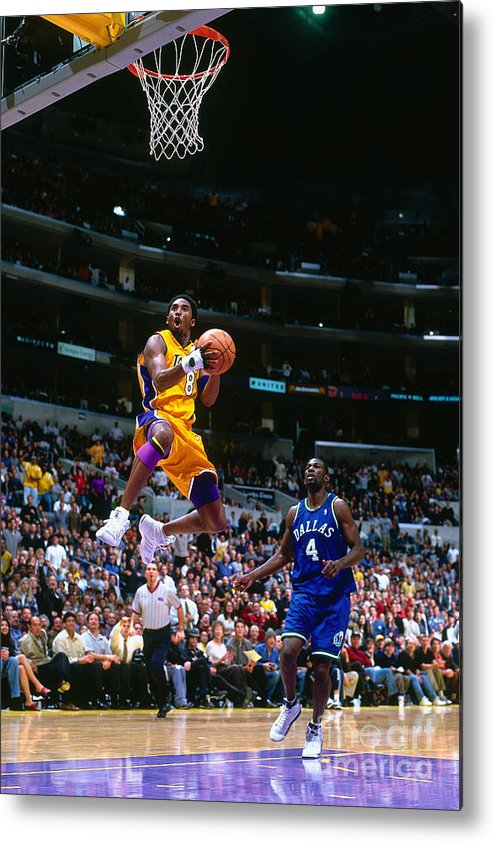 Nba Pro Basketball Metal Print featuring the photograph Michael Finley and Kobe Bryant by Robert Mora